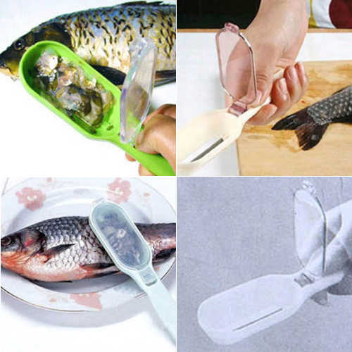 1Pc Pelle di Pesce Raschiatura Pesce Bilancia Brush Graters Veloce Rimozione Gadget Da Cucina