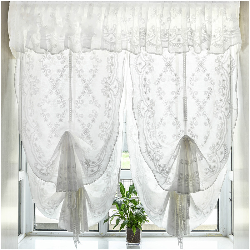 Embroidery Romantic Balloon Curtains, Balloon Curtains For Living Room