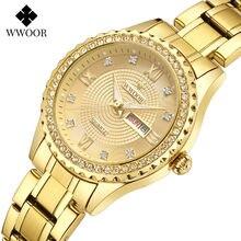 Wwoor Роскошные брендовые часы с бриллиантами для женщин модные