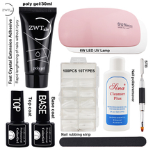 ZWTale Quick Builder Gel Nails Extentions Gellak vernis semi permanant uv Polish Hard Acrylic Nail Kit Polygel
