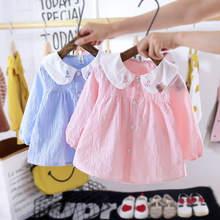 Одежда для девочек клетчатые платья с длинным рукавом осень