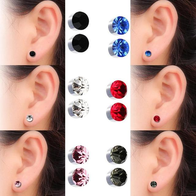 1 Pair Magnetic Slimming Earrings Lose Weight Body Relaxation Massage Slim Ear Studs Patch Health Jewelry 2