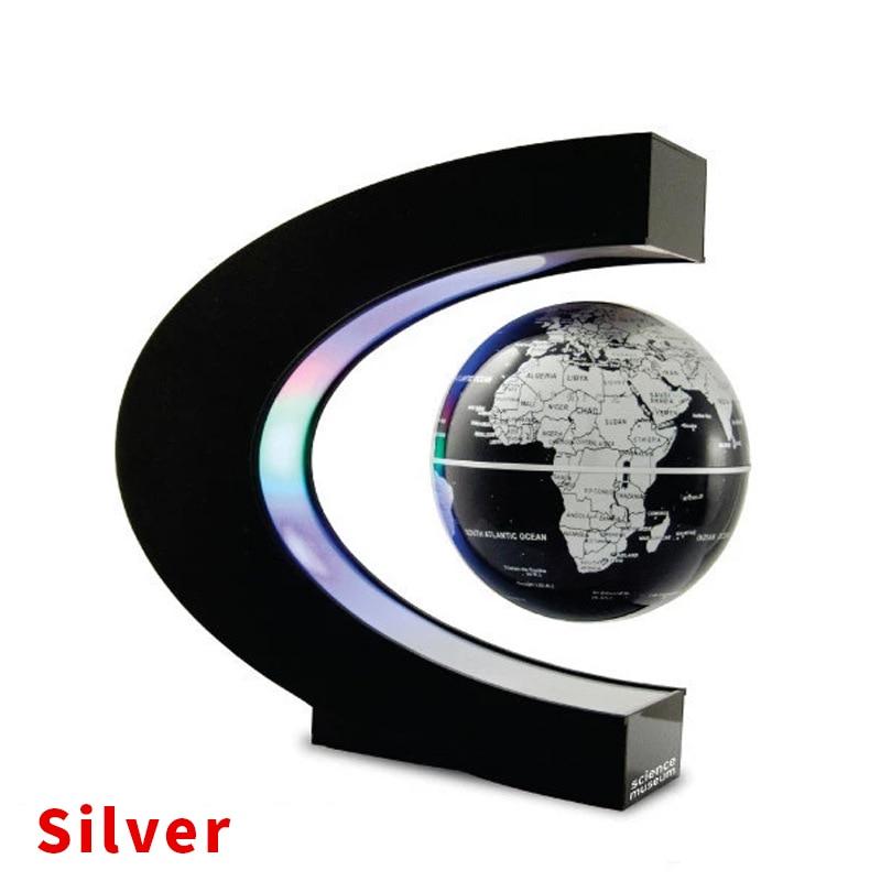 Decoração de levitação magnética flutuante globo mapa do mundo 3 polegada anti gravidade globo led luz natal crianças novidade presente natal