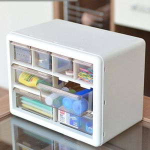Multi-grid Storage Box Drawer Transparent Jewelry Storage Drawers Bedroom Living Room Drawer Cabinet Plastic Case Desk Drawers