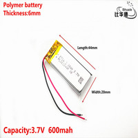 Good Qulity 3.7V,600mAH 602044 Polymer lithium ion / Li-ion battery for tablet pc BANK,GPS,mp3,mp4