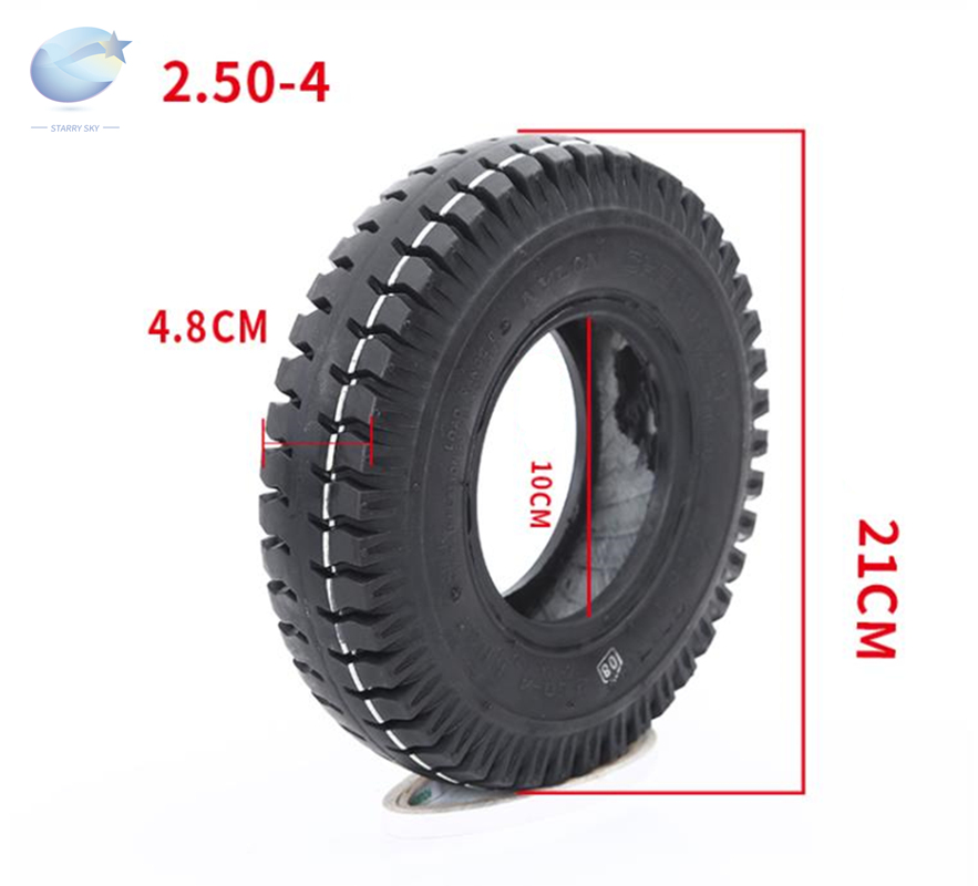 Thicken <font><b>2.80/2.50</b></font>-<font><b>4</b></font> Tire Inner Tube <font><b>2.80/2.50</b></font>-<font><b>4</b></font> Tyre For Gas Electric Scooter ATV Elderly Mobility Utility Dolly Hand Truck Tire image