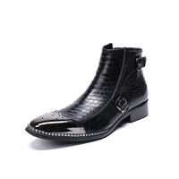 Men's Boots Winter Men ankle Boots Lace Up genuin leather Male Leather Shoes fashion Business autumn Boot Footwear