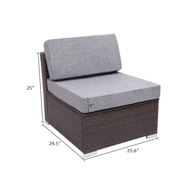 4 Pieces Patio  Sofa Set 2