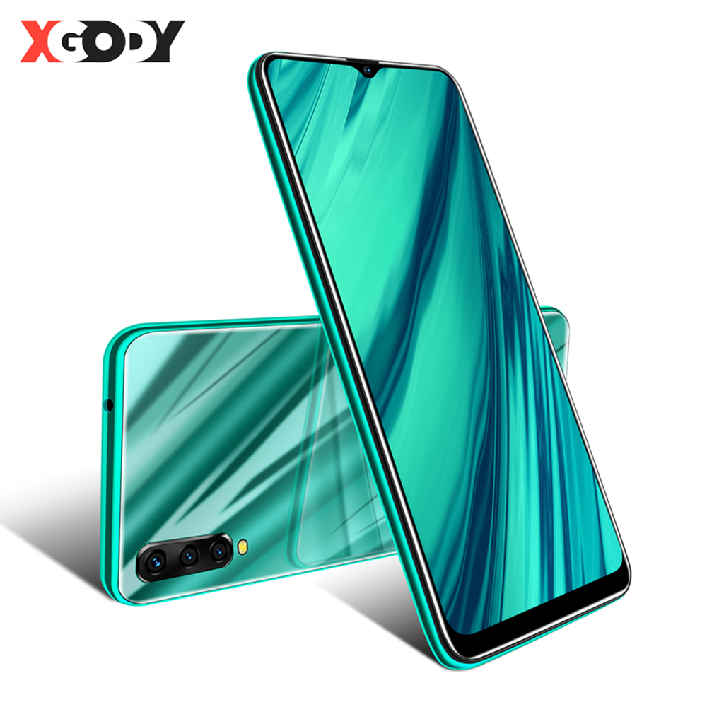 XGODY 6.53 Inch 3G Mobile Phone Android 9.0 Celular Waterdrop Screen Smartphone 2GB + 16GB MTK6580 Quad Core Dual SIM 5MP Camera