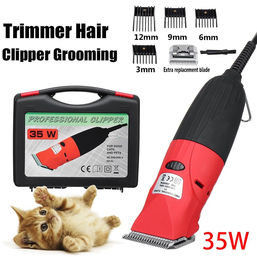 35W haute professionnel électrique chien chat tondeuse à cheveux à faible bruit tondeuse à cheveux toilettage rasoir coupe Machine ensemble + lame de rechange