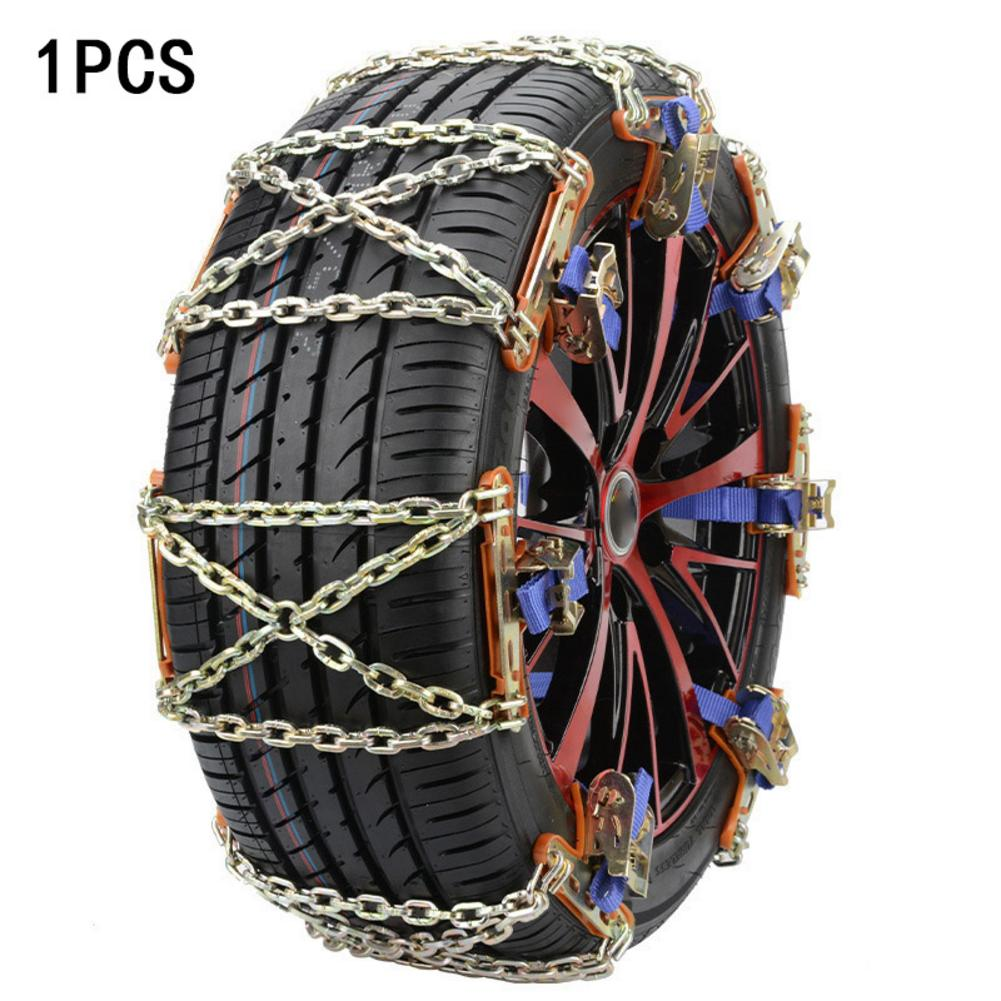 1/3/4/6pcs Tire Anti-skid Steel Chain Snow Mud Car Security Tyre Clip-on Chain For Car Car Truck SUV Universal Tire Accessories image