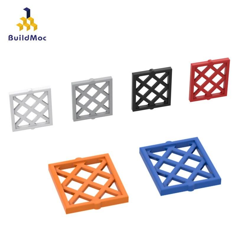 BuildMOC 38320 1x2x2 решетчатое окно для строительных блоков детали для самостоятельного строительства креативные Подарочные игрушки