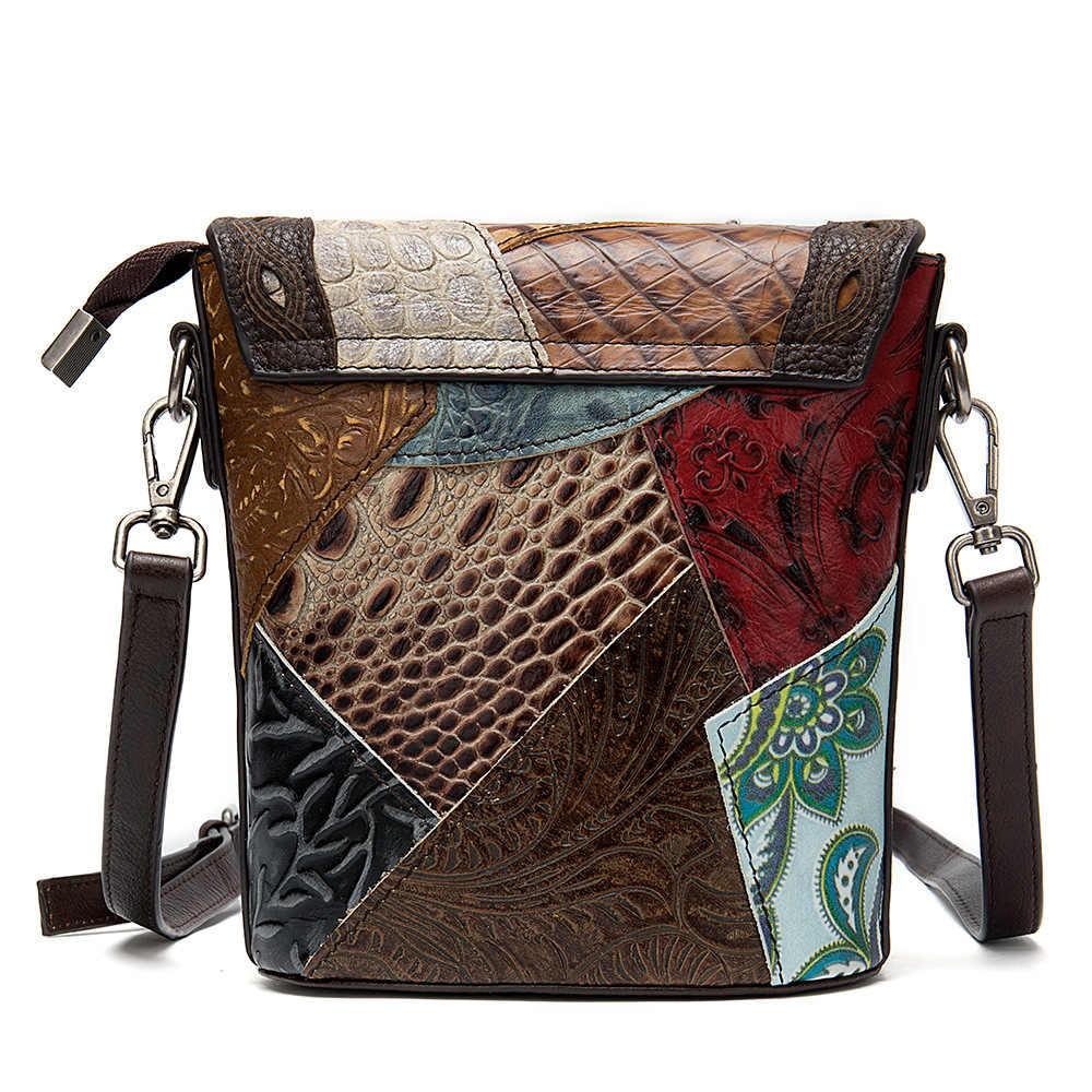 Мини-сумка-мессенджер из натуральной кожи, женская сумка-ведро для телефона, 2019