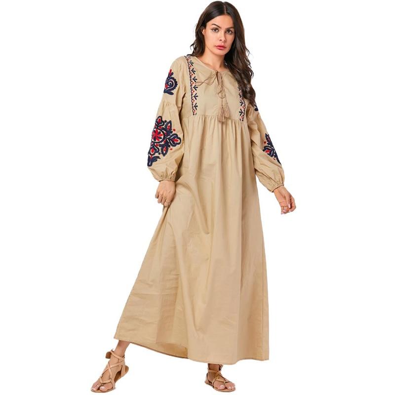 Caftan Vestidos Maxi Muslim Dress Women Abaya Turkey Kaftan Dubai Qatar Arabic Pakistani Hijab Islamic Dresses Tesettur Elbise