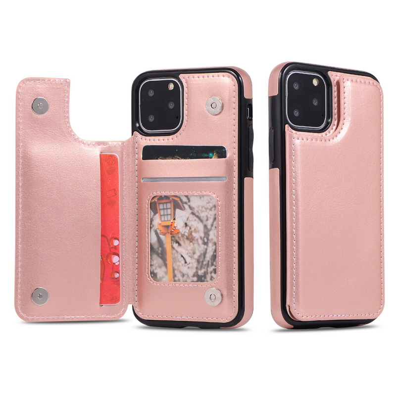 PU Leather Flip Wallet Photo Holder Cover For Iphone 11 XR XS MAX 5S 6S 7 8 Plus