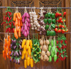 mushroom garlic beans corn sweet potato tomato cucumber eggplant hot pepper artificial fruits and vegetables bunches model props