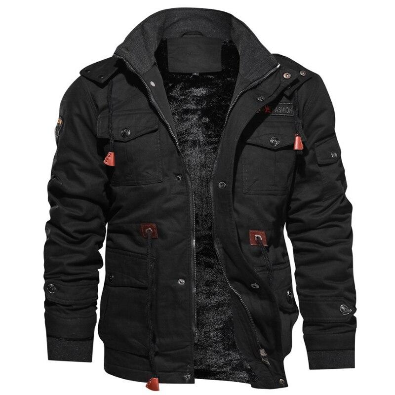 2020 Новое поступление Мужские Зимние флисовые куртки теплое пальто с капюшоном теплая толстая верхняя одежда мужская военная куртка мужска...