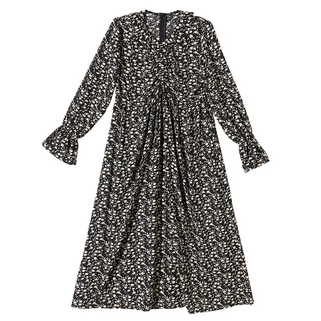 Maternity Plus Size Retro Floral Dress 5