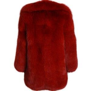 Image 3 - الحقيقي الفراء معطف السيدات الفراء الطبيعي معطف كامل بلت فرو الثعلب معطف