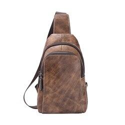 Новая Мужская винтажная сумка-мессенджер из натуральной воловьей кожи, на ремне, на груди, для путешествий, модная сумка через плечо