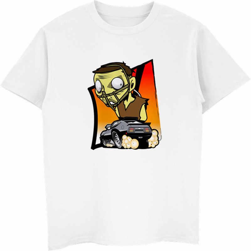 Camiseta informal para hombres con estampado de Mad Max, camisetas de cuello redondo, camisetas de moda para hombres, camisetas de manga corta para hombres