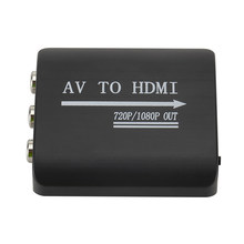 Digital Mini HDMI to AV Signal Converter Adapter Output 1080p HD Composite Video Audio AV CVBS RCA Adapter Converter(China)