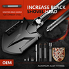 Multi-functional Engineering Shovel Set Wild Survival Tool Military Camping Equipment Folding Shovel with a Free Bag 1