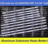 10pcs LED strip for LG INNOTEK DRT 3.0 50 A/B 6916L-1978A 6916L-1779A 6916L-1982A 6916L-1983A 50LB5610 50LB650V 50LB653V