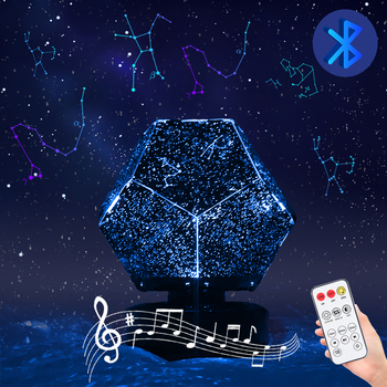Star Projector LED Night Light Bluetooth Galaxy Projector Starry Sky Lamp Christmas Gift For Kids Bedroom Decor Star Lamp wholesale glow in the dark led night light starry luminous toys cosmic sky projection lamp kids toy for children christmas gift