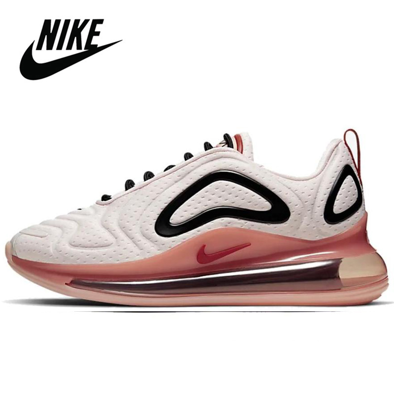 Original Nike Air Max 720 Pink Running Shoe for Women Athletic Trainer Cushioning Outdoor Breath Fitness Sneaker image