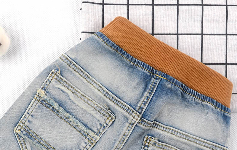 IENENS 5 13Y Kids Boys Clothes Skinny Jeans Classic Pants Children Denim Clothing Trend Long Bottoms Baby Boy Casual Trousers in Jeans from Mother Kids