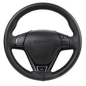 Image 2 - DIY Lenkrad Abdeckungen/Weiche Faser Leder geflecht auf die lenkung rad von Auto Mit Nadel und Faden innen zubehör