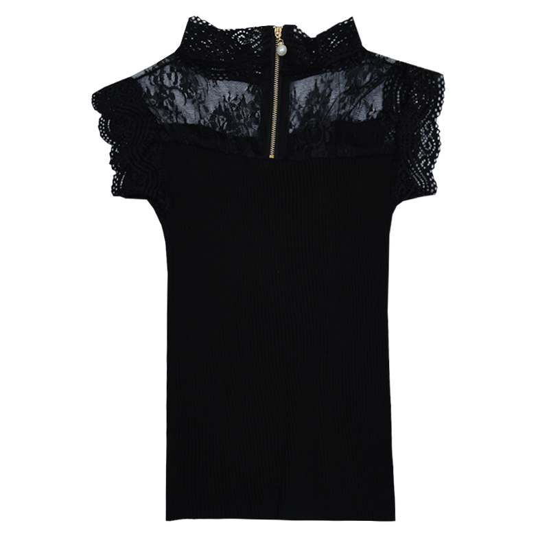 Women Knitting Patchwork Lace Hollow Out Solid Camisole Tops Sleeveless Tee Shirts Girls Sexy Sweet Tops Tanks Knitwear
