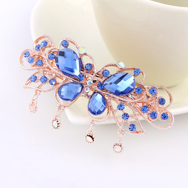 1PC Metals Crystal Hair Clips Rhinestone Flower Hair Pins Bow Knot Barrette Butterfly Hairgrips Women Girl Hair Styling Tool