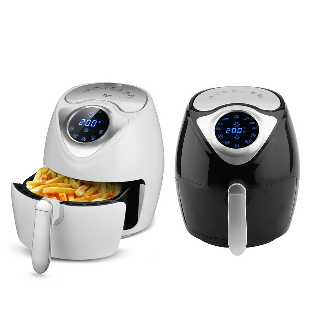 3.5L Capacity 1300W Smart Temperature Control Commercial Electric Air Fryer Digital Led Touch Screen For Air Fried Pot Drop Ship|Electric Deep Fryers|Home Appliances - title=
