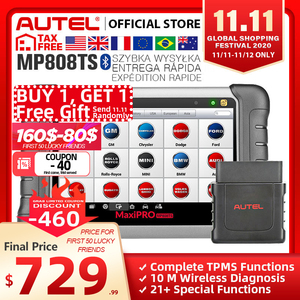 Image 1 - Autel MaxiPRO MP808TS OBDII Auto Automotive Diagnostic Tool OBD2 Scanner OBD 2 Code Reader TPMS Funktionen PK AP200 MK808 MK808TS