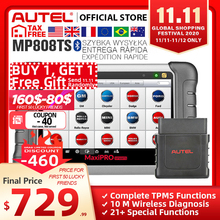 Autel MaxiPRO herramienta de diagnóstico automotriz para coche, escáner OBD2, lector de código OBD, funciones TPMS, PK, AP200, MK808, MK808TS