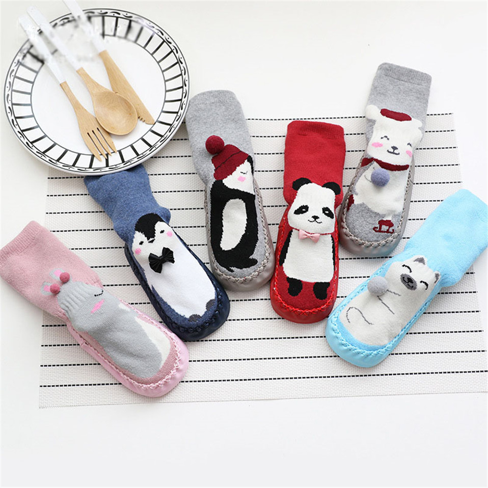 Winter Baby Socks Baby Boy Girl Socks Chaussette Infant Cotton Baby Children Floor Socks Anti-Slip Baby Step Socks