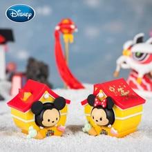 Disney Blind Box Cartoon Mickey New Year Series Blind Box Spring Festival Doll New Year Gift Small Decoration 1pcs Free Shipping �������������� box spring
