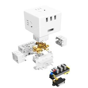 Image 4 - Xiaomi Mijia 2 In 1 Usb Charger Power Strip Draadloze Adapter 6 Poorten Socket Converter Ruimtebesparend Socket Plug outlet Magic Cube