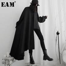 Long-Sleeve Windbreaker Trench EAM Women Spring Black Autumn Big-Size Fashion New Fit