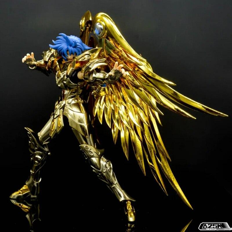Jmodel gt saint seiya figura gemini saga alma de ouro divina armadura de metal ex sog figura de ação modelo