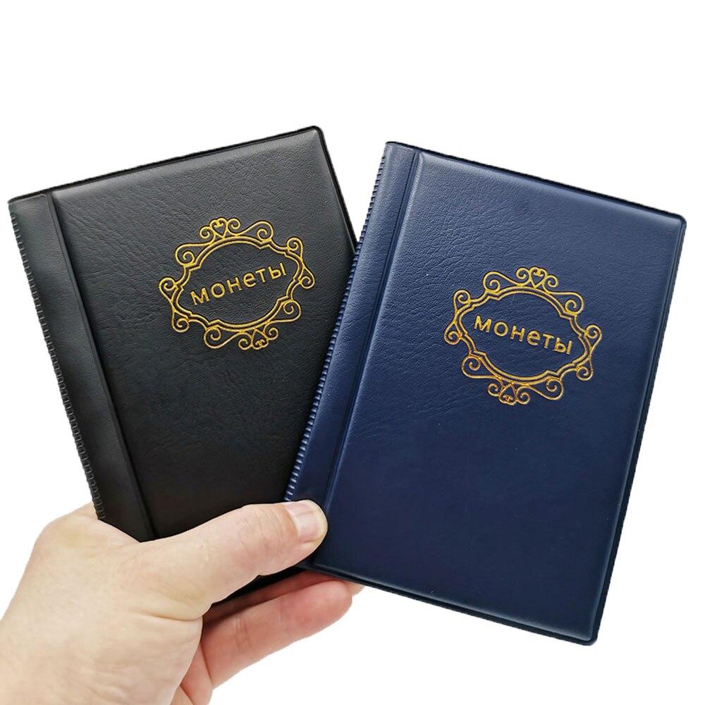 Альбом для русской монеты, 10 страниц, 120 карманов, альбом для монет, карманы для монет, жетоны, памятные монеты, медальоны, коллекционная книг...
