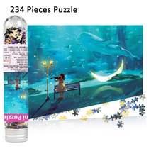 234 шт пробирки Мини бумажные Пазлы игровые Игрушки для детей