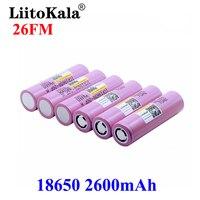 LiitoKala 3.7V 18650 2600mAh batterie batteria ricaricabile ICR18650-26FM batteria ricaricabile al litio per batterie torcia