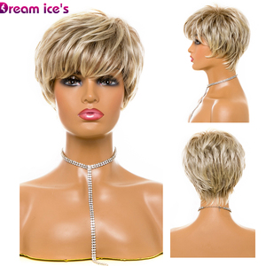 Image 2 - Synthetic Fiber Hair Female Short BOB Wig Natural Straight High Temperature Hair Wigs Heat Resistant Hair For Party
