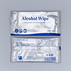 50Pcs 75% Alcohol Wet Wipes Hand Wipes Individually Wrapped Alcohol Wipes Travel Pack Drop Shipping