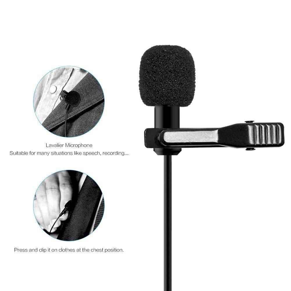 Микрофон 8 м петличный перезаряжаемый аудио 3,5 мм ошейник конденсаторный нагрудный микрофон для записи Canon/iPhone DSLR камер