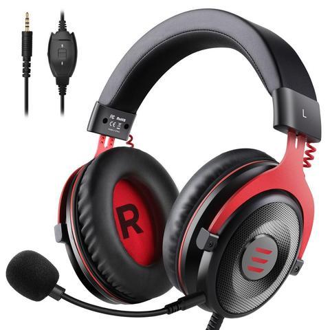 Fone de Ouvido 3.5mm sobre Fones de Ouvido com Cancelamento de Ruído Mic para pc Eksa Gaming Headset Wired Gamer – Xbox Ps4 um Controlador