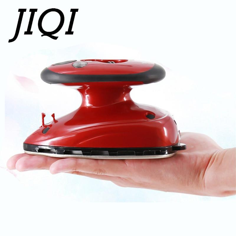 Jiqi mini handheld roupas elétricas vapor ferro viagem vestuário placa de base portátil calor flatiron 110v-220v ue eua plug